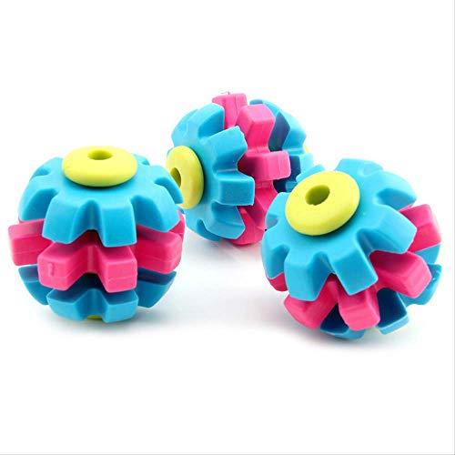 AHJSN 7 cm Pet Spielzeug Mit Tri Farbe Rotary Ball Rotary Zahnräder Pet Molaren Biss Beständig Kauen Hundespielzeug Interaktive Bälle -