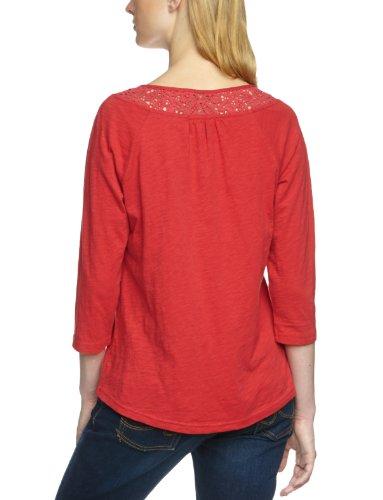 Eddie Bauer Damen Sweatshirt 21302979, Knopfleiste Rot