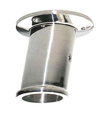 Arbo-Inox® - Flaggenstockhalter - Edelstahl A4 - für 32mm Flaggenstock - Deckmontage - 10° Neigung