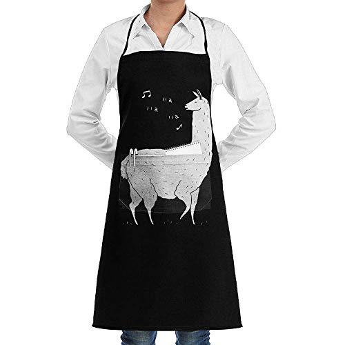 Women/Men Long Aprons Song of The Llama Kitchen Sleeveless Anti-Fouling Overalls Portable Pocket Design
