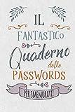 Il Fantastico Quaderno delle Passwords- per Smemorati!: Per conservare tutte le tue Passwords in un utile quaderno con pagine alfabetizzate!