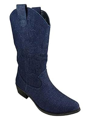 Santiag femme Bottes  : Chaussures et Sacs