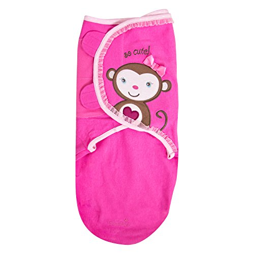 Summer Infant SwaddleMe Blanket - Baby Pucksack - Monkey Love (Small) neuste Motive aus USA