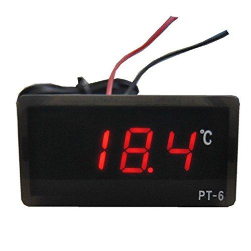 Thermometer ,Colorful 12V -50 ℃ ~ 110 ℃ Digital LED Thermometer Temperatur-Detektor Rot