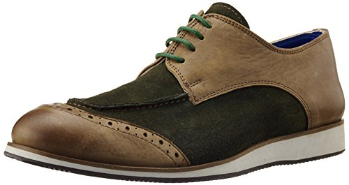 Fonti Men's Tan and Green Formal Shoes - 8 UK (FNT16)