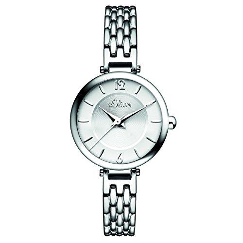 s. Oliver Women's Quartz Watch with Black Dial Analogue Display Quartz 15101/MQR