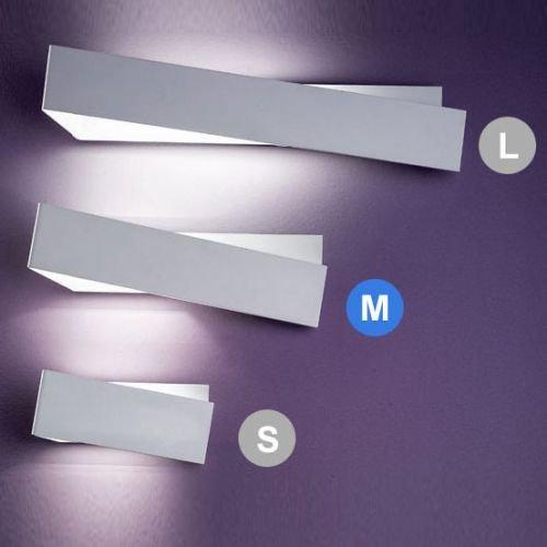 Linea Light, Zig Zag Applique 1 Luce 43cm, Bianco.