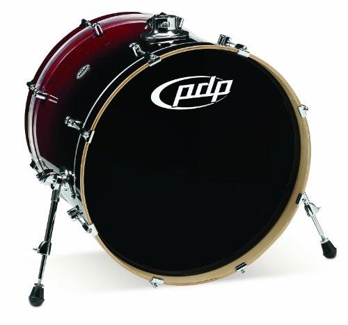 Pacific Drums pdcm1822kkrb 45,7x 55,9cm Bass Drum mit Chrom Hardware-Rot zu schwarz verblassen