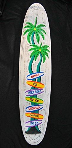 Diferentes-seales-Cartel-de-madera-en-tabla-de-surf-Style-Cartel-Surf-Lounge-Style-Hawaii-Bahamas-PHI-PHI-Ibiza