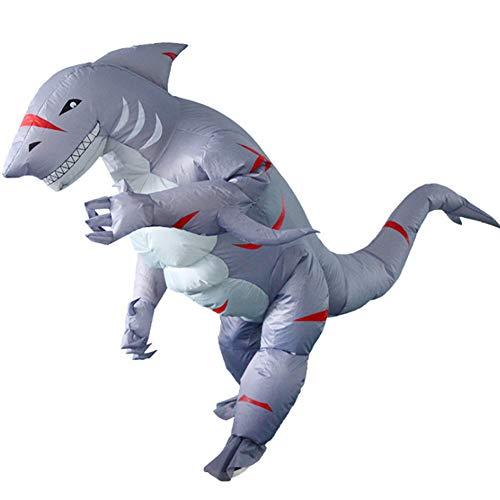 S+S Aufblasbare Kleidung Cartoon Puppe Requisiten Horror Aufblasbare Big Shark Kostüm Siamesischen Anzug Halloween Rollenspiel Bühnenauftritt Für Erwachsene (Shark Kleid Für Erwachsene Kostüm)