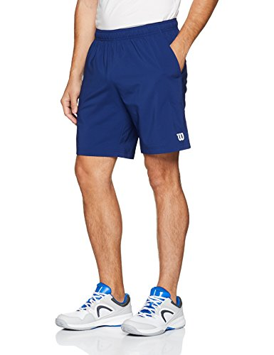 Wilson Herren Tennis-Shorts, M Team 8'' Short, Polyester, Blau, Größe: M, WRA765503