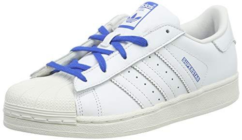adidas Superstar C Zapatillas de Gimnasia Unisex Niños, Blanco (Ftwr White/Ftwr White/Blue), 28 EU (10 Child UK)