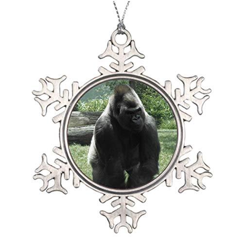 Monsety Gorilla Wohnzimmer-Zoo-Weihnachts-Schneeflocken-Ornament, Heimgeschenk, Weihnachtsbaum-Dekoration, Ideen