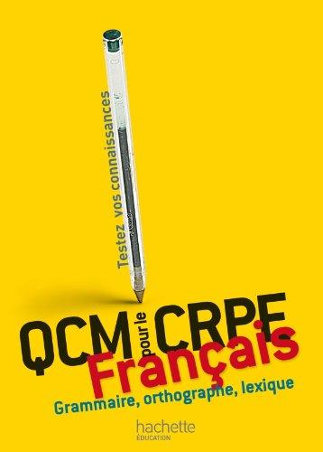 QCM pour le CRPE : français