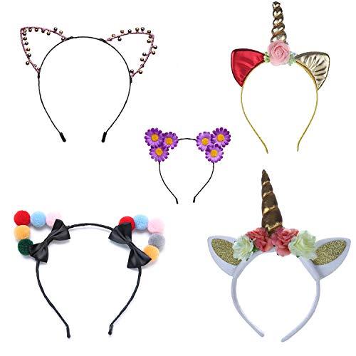 Set von 5süße Katze Ohr Kopfband für Frauen -