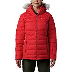 Columbia Ponderay Chaqueta, Mujer, Rojo (Red Lily), M