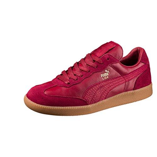 Puma Liga Leather Leder 364597 Retro Sneakers Schuhe Ikone, Größe:UK 5½ - EUR 38.5 - 24.5 cm;Farbe:Rottöne
