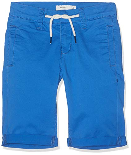 NAME IT Jungen Shorts NKMSOFUS TWIACHSON Chino Long BD, Blau (Strong Blue), (Herstellergröße: 134) Band China