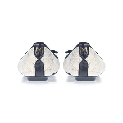 Butterfly Twists Damen Olivia II Geschlossene Ballerinas Off-White (Cream/Black)
