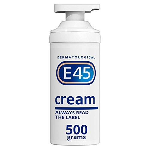 E45 Dermatological Moisturising Cream Tub, 500 g