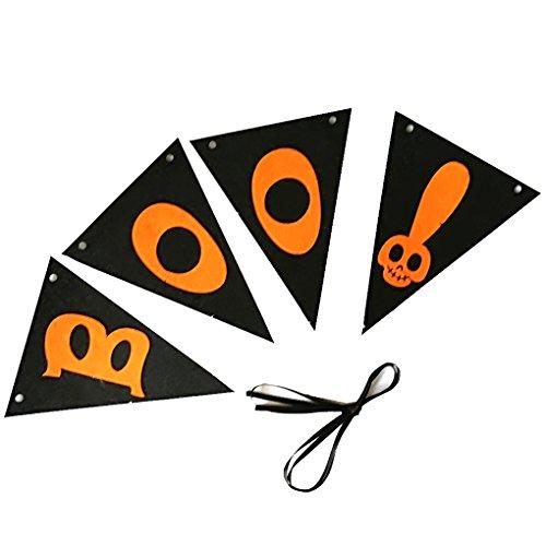 Providethebest Boo Letter-Muster Halloween-Wimpel-Partei-Verein hängende Dekoration, Fenster, Tür Home Banner Flag Hanger Zeichen