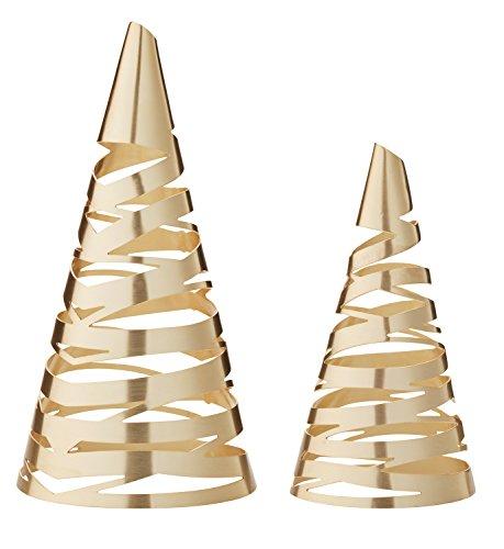 Stelton Tangle Weihnachtsbäume, Messing, 2-teilig