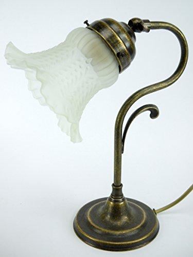Lampada ottone brunito per tavolo,scrivania,lampade usato  Spedito ovunque in Italia