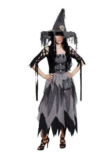 Halloween Damen Kostüm Scary Hexe verkleiden an Karneval Größe (Hexe Scary Halloween)