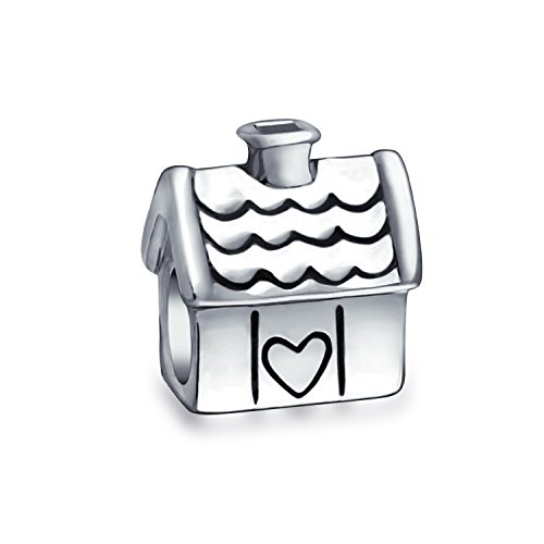 Bling jewelry 925 silver house charm bead adatto chamilia troll