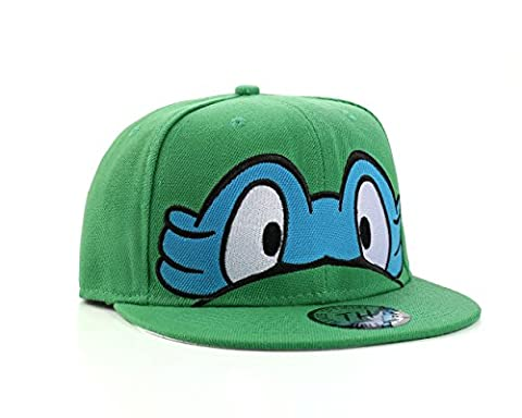 Ninja Turtles - Flat Peak Adjustable Snapback Baseball Cap (Blue)