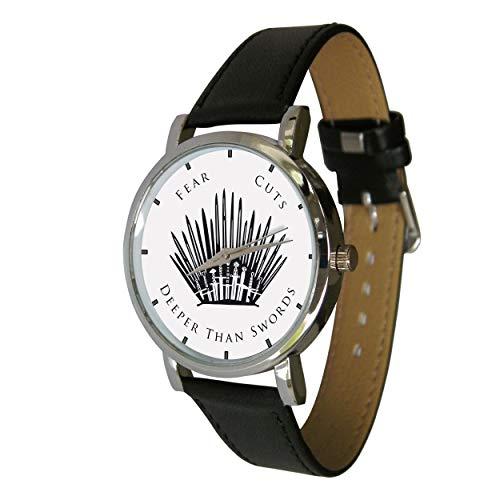 Your Watch Design. Unisex-Erwachsenengröße. Analog, Quarzuhrwerk, Lederband. Fear Cuts ()