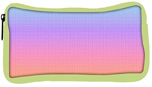 Snoogg Eco Friendly Canvas Light Colour Motifs Student Pen Pencil Case Coin Purse Pouch Cosmetic Makeup Bag