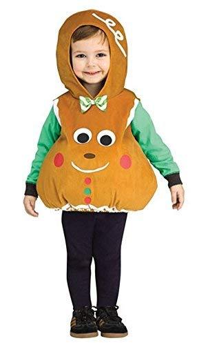 Palmer Toddler Baby Weihnachten Weihnachtsmann Weihnachten Outfit Kostüm Mädchen Jungen - Lebkuchen, Einheitsgröße (Lebkuchen Baby Kostüm)