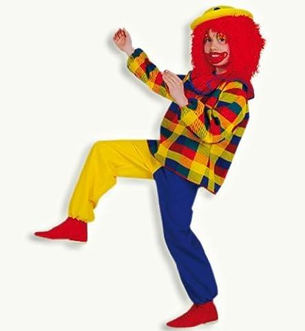 Clown Peppi 2tlg Kinder Kostüm Gr 164