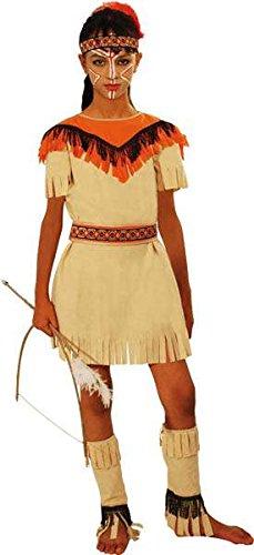 Kostüm Indianerin sioux, black, 140, 8/10 (Fille Kostüm Indienne)