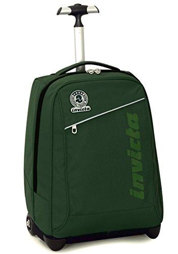 Trolley invicta , benin , verde , 35 lt , 2in1 zaino  con spallacci a scomparsa , scuola & viaggio