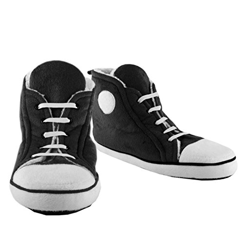 Sneaker Hausschuhe für Männer in schwarz - Sportschuh Pantoffeln Hausschuh Pantoffeln Winter im Paar