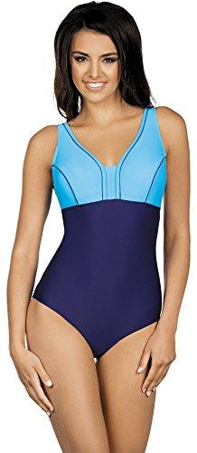 LORIN Einteiliger Damen Badeanzug LO4109 (Dunkelblau/Blau, ()