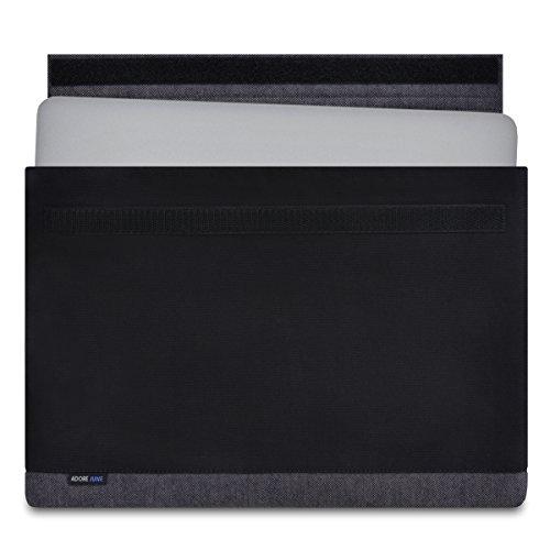 Adore June 15,4 Zoll Hülle Bold Speziell für Apple MacBook Pro 15 2018 2017 2016 Tasche aus Elegantem Baumwoll-Canvas [Schwarz] für MacBook Pro 15 A1990 A1707