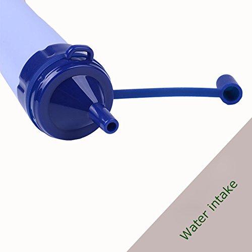Tragbare Wasseraufbereitungssystem im Freien Überlebens -Werkzeug Notfall Camping Wandern Personal Wasserfilter mit 3-Stufen-Filtration (Chemical, BPA-frei) - 3