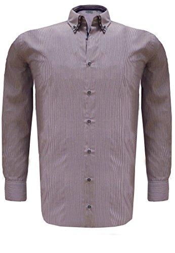 Greyes -  Camicia Casual  - Uomo viola XXXL