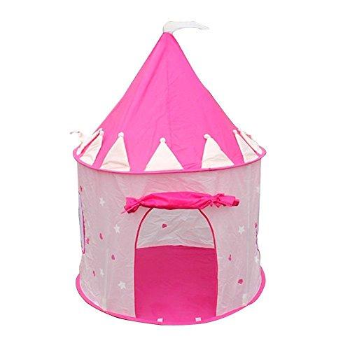 )Tragbare Rosa Pop-Up Spiel-Zelt Kind Maedchen Prinzessin Schloss Outdoor Haus ()