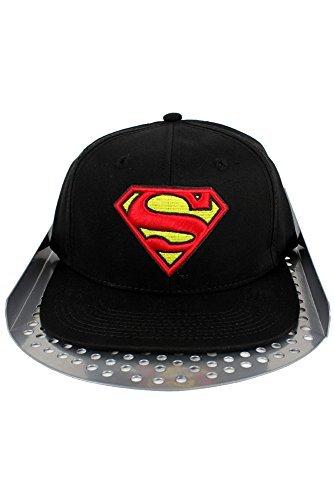 DC Comic Superman Casquette à visière plate - Noir - Taille unique