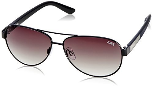 IDEE Aviator Sunglasses (IDS1851C1SG|100 Shiny Black) image