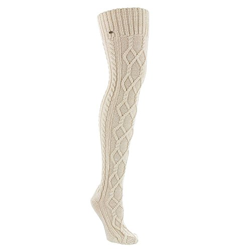 UGG Women's Classic Cable Knit Socks Cream One Size (Uggs Womens Knit)