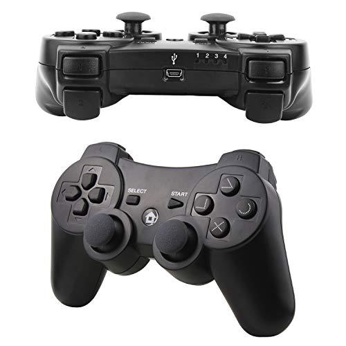 Molyhood Mando Inalámbrico para PS3 Controller Bluetooth con Función SIXAXIS y Doble Vibración,  Wireless Rechargable Bluetooth Gamepad Remote Joystick Controller Gamepad para Sony PS3 Playstation 3