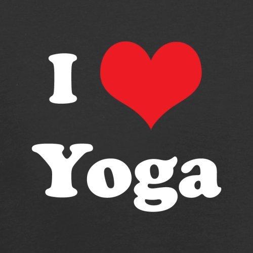 I Love Yoga - Damen T-Shirt - 14 Farben Schwarz