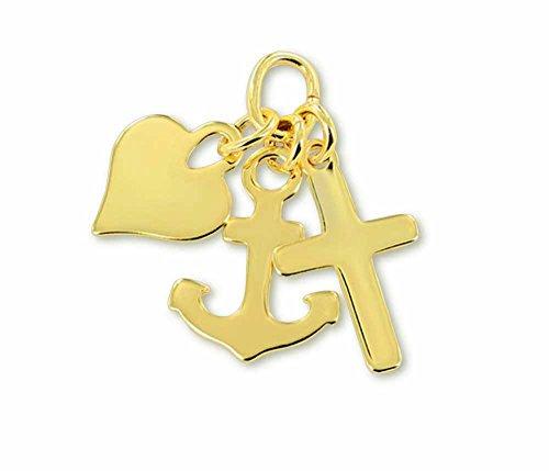 �r Kette Herz Anker Kreuz, Liebe Glaube Hoffnung Gold 333 Geschenk (Glaube Kreuz)
