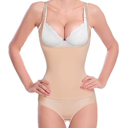 Junlan Damen taille trainer body shaper body korsett cincher formwäsche öffnen bh für weight loss 4x-large schwarz shapewear body control -