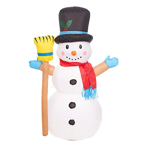 Christmas Workshop-86430 misura gigante gonfiabile da pupazzo di neve con cappello e 3, Twinkle luci LED, colore: bianco